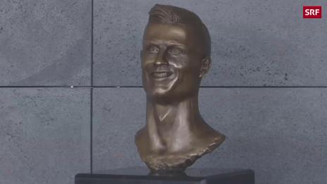Link öffnet eine Lightbox. Video Ronaldos Statue sorgt für Heiterkeit abspielen