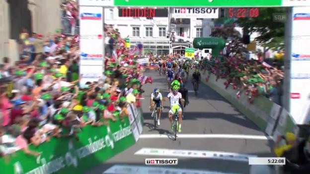 Video «Rad: Tour de Suisse, Zusammenfassung 3. Etappe» abspielen