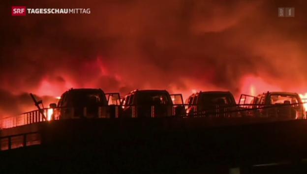 Video «Schwere Explosion in Tianjin» abspielen
