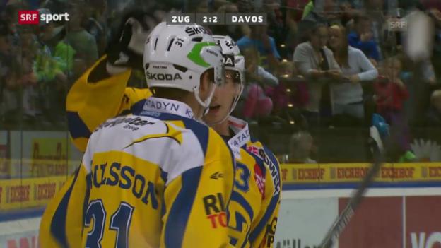 Video «Eishockey: Zug-Davos («sportaktuell»)» abspielen