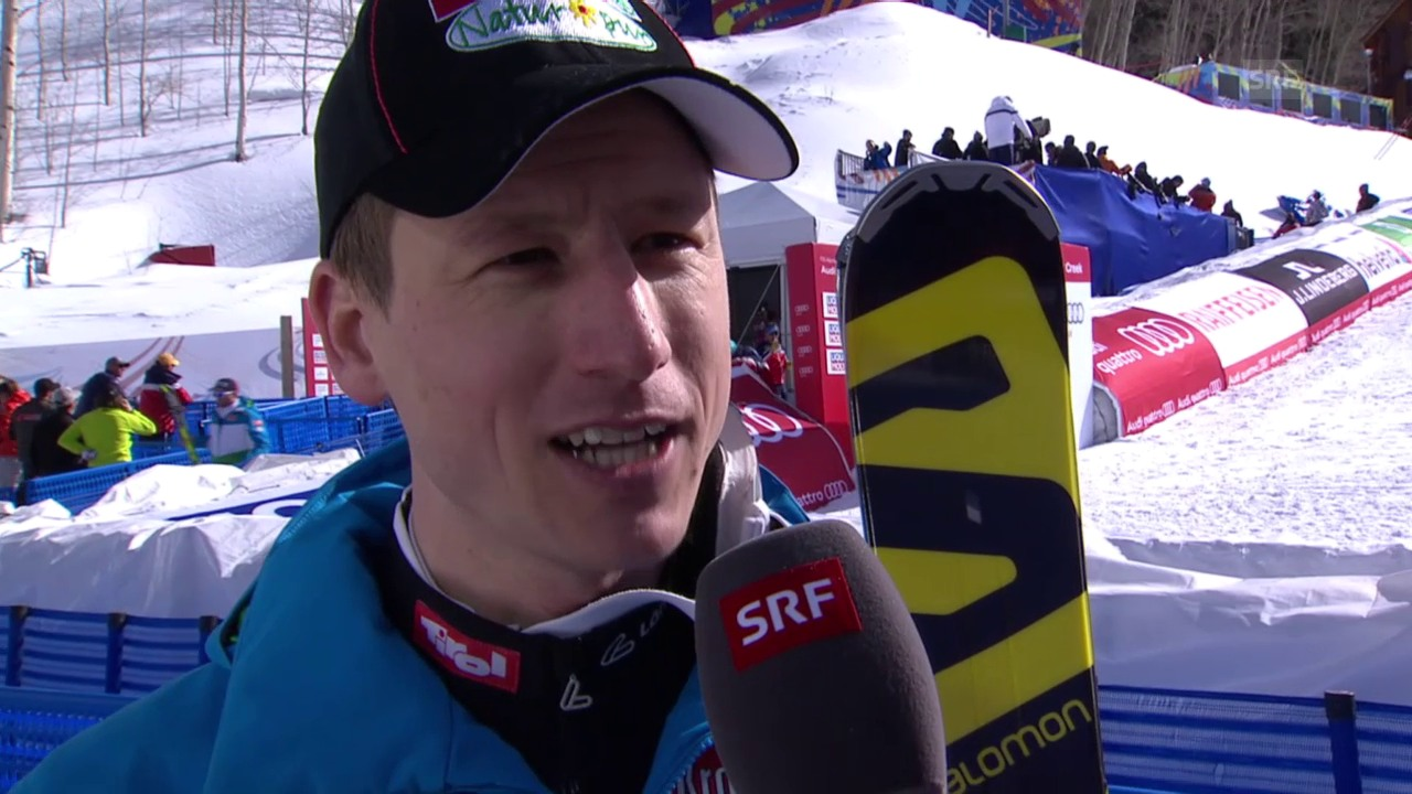 Ski: WM 2015 Vail/Beaver Creek, Super-G Männer, Reichelt im Interview