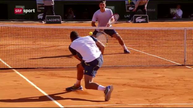 Video «Federer - Tsonga: Spielbericht («sportaktuell»)» abspielen