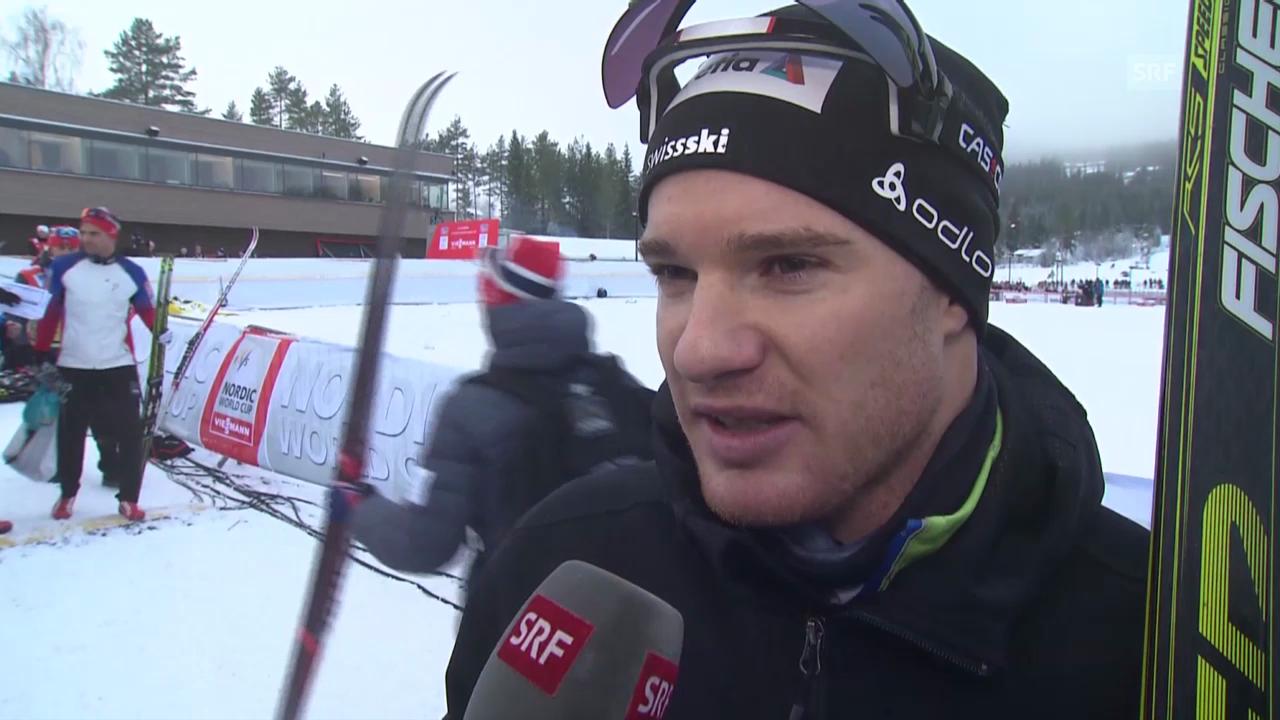 Langlauf: Weltcup Lillehammer, Klassisch-Verfolgung 15 km, Interview mit Dario Cologna