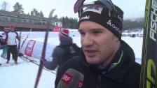 Video «Langlauf: Weltcup Lillehammer, Klassisch-Verfolgung 15 km, Interview mit Dario Cologna» abspielen