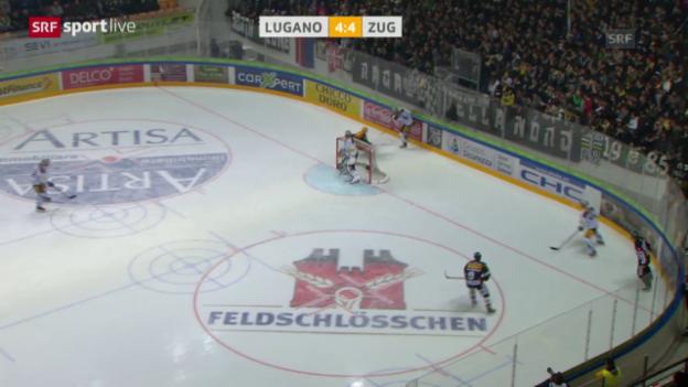 Video «Zusammenfassung Lugano-Zug» abspielen
