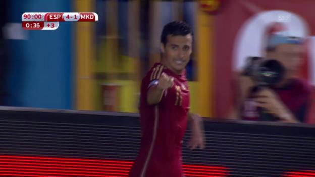Video «FUSSBALL: Zusammenfassung Spanien - Mazedonien» abspielen