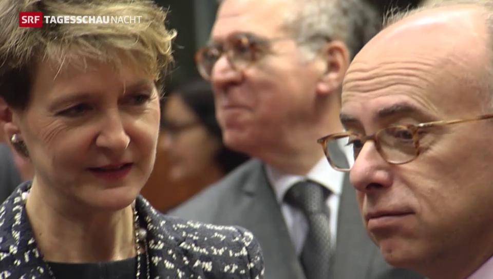 Sommaruga bei Treffen zur Flüchtlingskrise in Brüssel