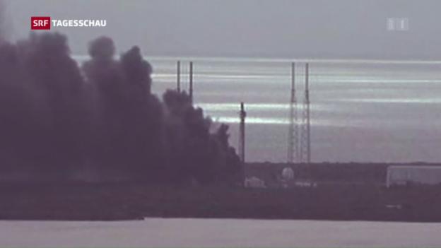 Video «Rakete von SpaceX bei Test explodiert» abspielen