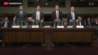 Video «Brady Dougan gesteht vor US-Senat Fehler ein» abspielen