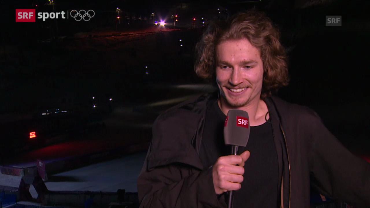 Snowboard Halfpipe: Interview mit Iouri Podladtchikov (sotschi moments, 11.02.2014)