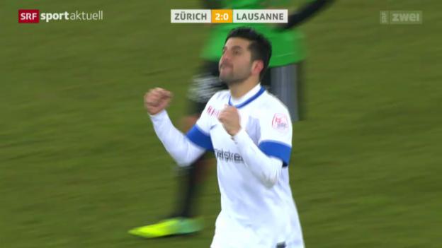Video «Fussball: FC Zürich - Lausanne» abspielen