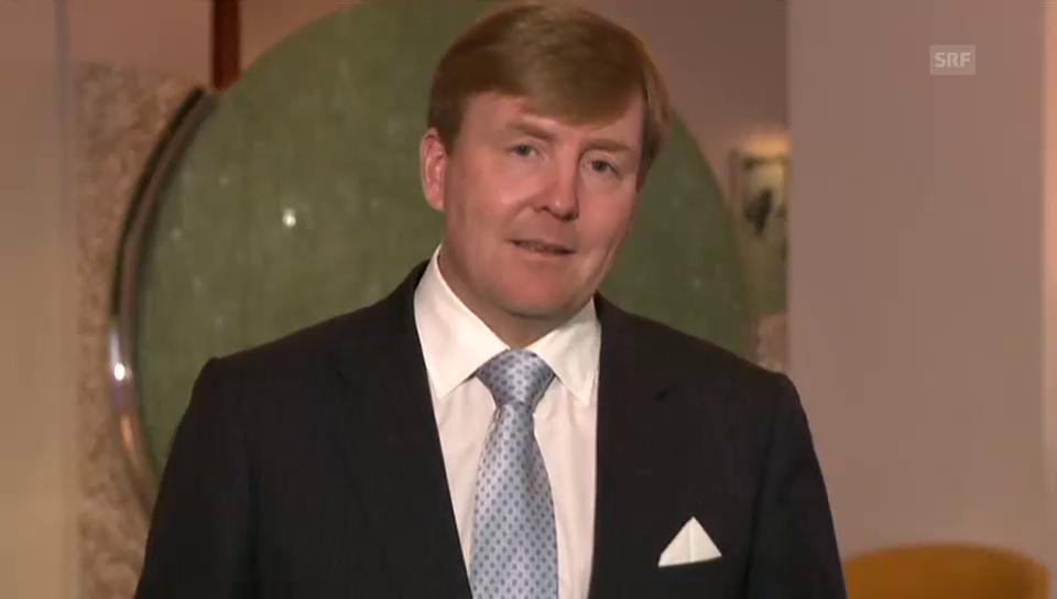 König Willem-Alexander über Máxima