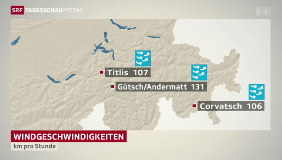 Föhnsturm fegt über die Schweiz