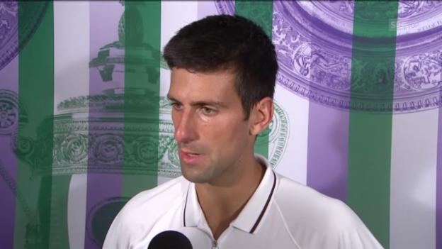 Video «Tennis: Interview mit Novak Djokovic (englisch)» abspielen