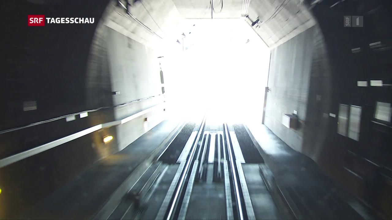 Gotthard-Tunnel ist ein Erfolg