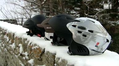 Video «Ski- und Snowboardhelme im Härtetest» abspielen