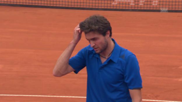 Video «Tennis: Die Aufgabe von Gilles Simon» abspielen