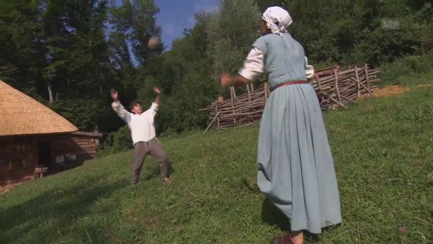 Video «Ballspiel auf Hof Dietschi» abspielen