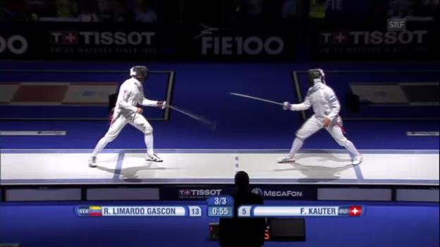 Video «Schlussphase des Halbfinals mit Kauter» abspielen