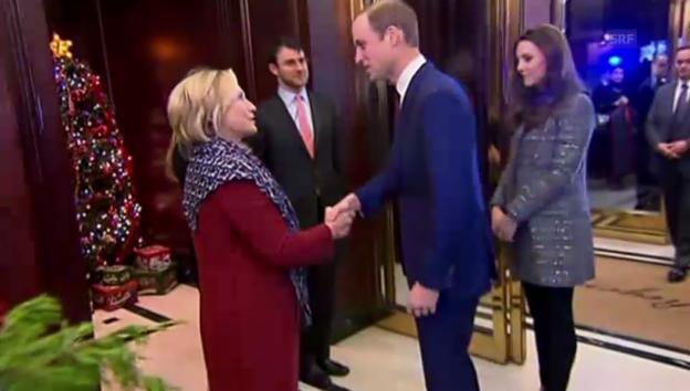 Video «Kate und William zu Besuch bei Hillary Clinton» abspielen