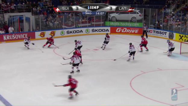 Video «Die Live-Highlights von Schweiz - Lettland» abspielen