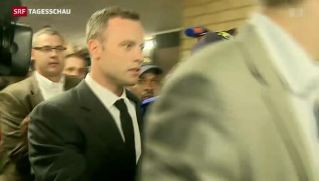 Video «Erster Prozesstag gegen Oscar Pistorius» abspielen