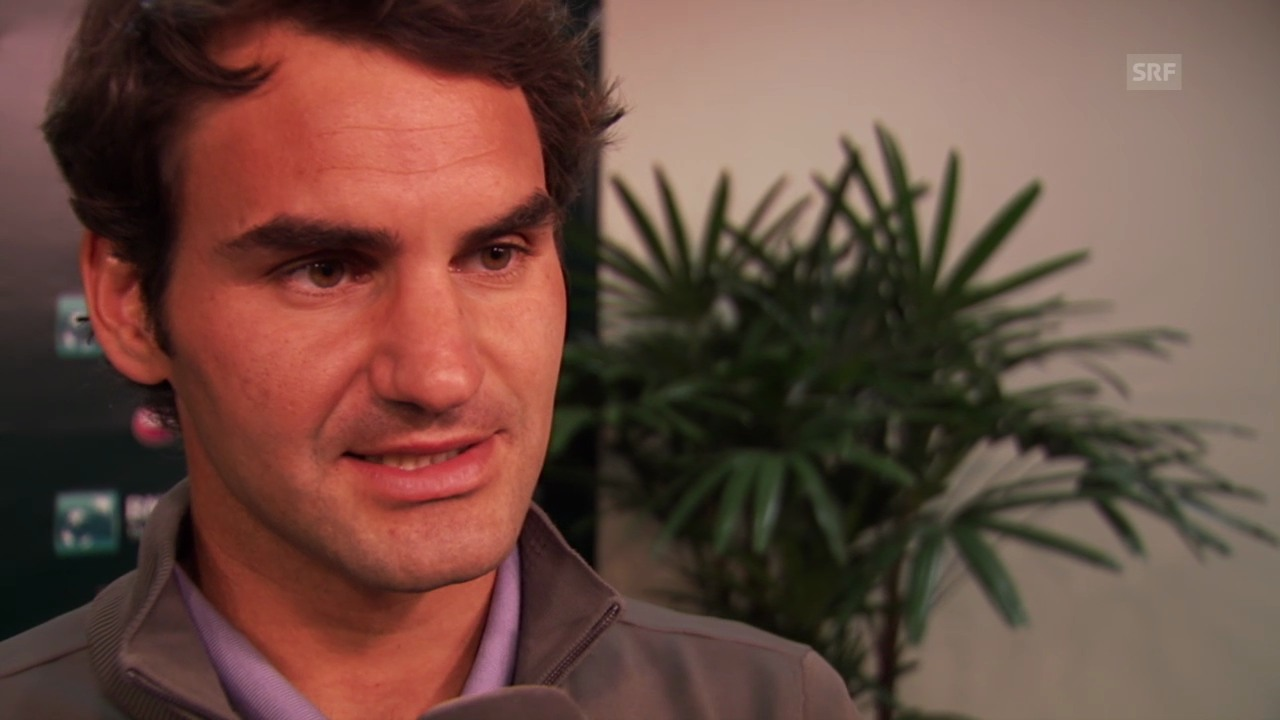 Tennis: ATP 1000 Indian Wells, Interview mit Roger Federer (08.03.2014)
