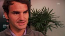 Video «Tennis: ATP 1000 Indian Wells, Interview mit Roger Federer (08.03.2014)» abspielen