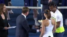 Video «Tennis: Australian Open, Mixed-Final, Siegerehrung» abspielen