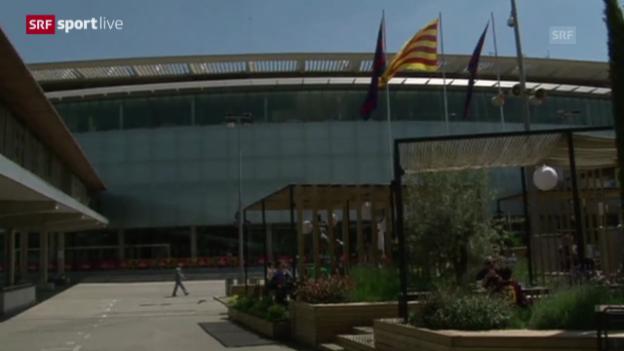 Video «Fussball: Harte Strafe gegen Barcelona» abspielen