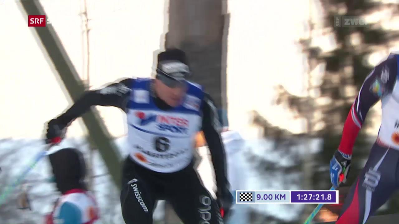 Langlauf: 50 km in Lahti mit Dario Cologna