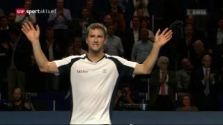 Video «Tennis: Swiss Indoors, 1. Tag» abspielen