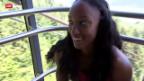 Video «Leichtathletik: Hürdensprinterin Brianna Rollins vor dem Luzern-Meeting» abspielen