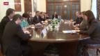 Video «Aussenminister Burkhalter besorgt über die Lage in der Ostukraine» abspielen