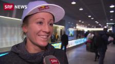 Link öffnet eine Lightbox. Video Ironman-Gewinnerin Daniela Ryf ist zurück in der Schweiz abspielen
