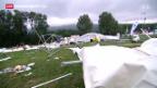 Video «Verletzte und Verwüstung nach Sturm in Biel» abspielen