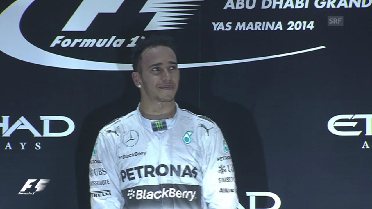 Formel 1: Zieleinfahrt und Siegerehrung von Lewis Hamilton