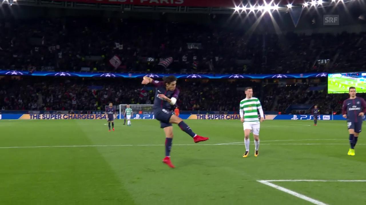 PSG - Celtic: Cavani mit einem tollen Volley-Hammer
