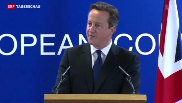 Video «Camerons erfolgloser Kampf gegen Juncker» abspielen