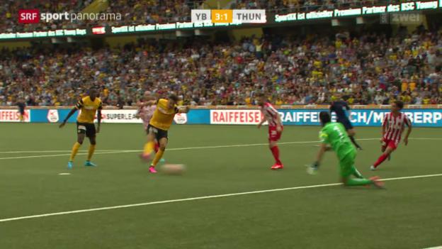 Video «Fussball: Super League, YB - Thun» abspielen