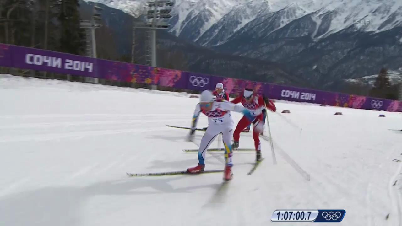 Sotschi: Langlauf, Skiathlon, Die Entscheidung