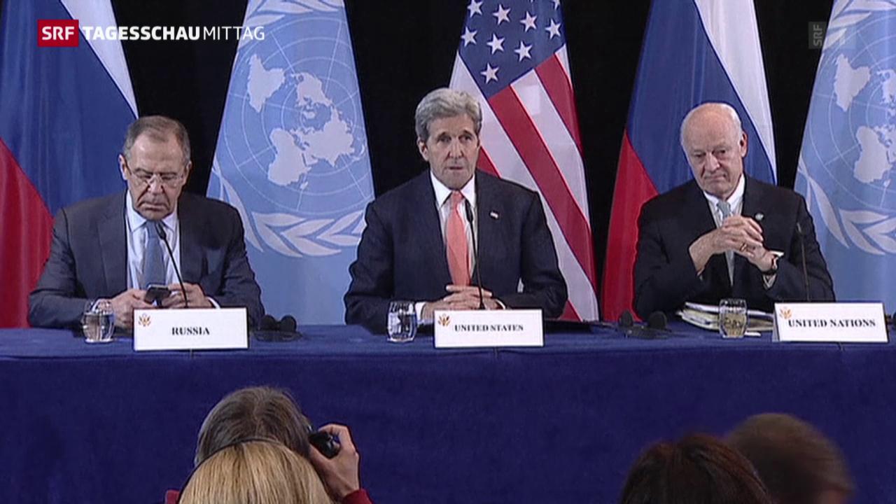 Aussenminister beschliessen Waffenruhe in Syrien