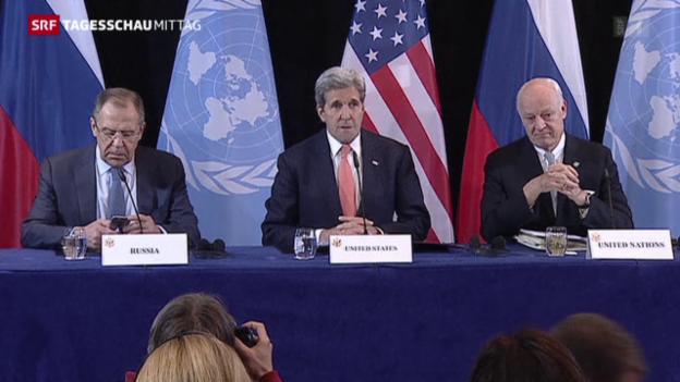 Video «Aussenminister beschliessen Waffenruhe in Syrien» abspielen