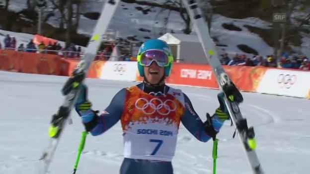 Video «Ski: Riesenslalom Männer Sotschi, Zusammenfassung (19.2.14)» abspielen