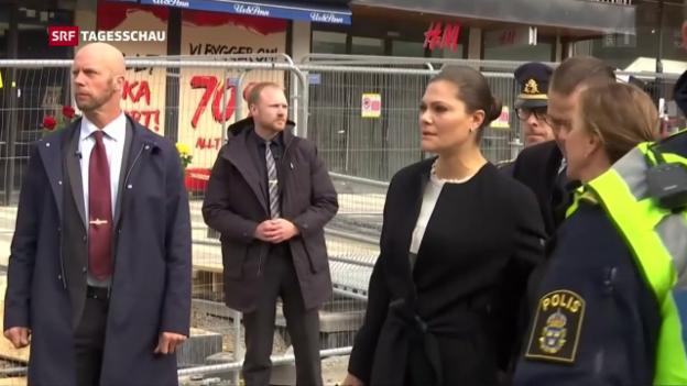 Video «Attacke in Stockholm: Der Tag danach» abspielen