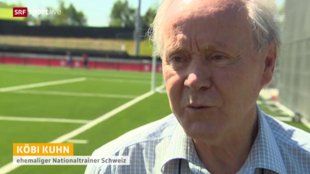 Video «Fussball: Frauen-WM, Besuch Köbi Kuhn» abspielen