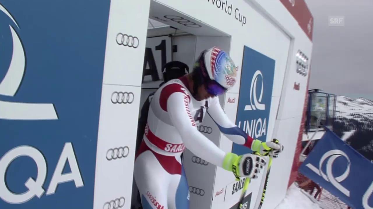 Ski: Abfahrt in Saalbach, Fahrt von Didier Défago