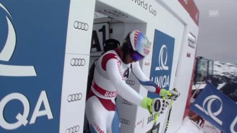 Video «Ski: Abfahrt in Saalbach, Fahrt von Didier Défago» abspielen