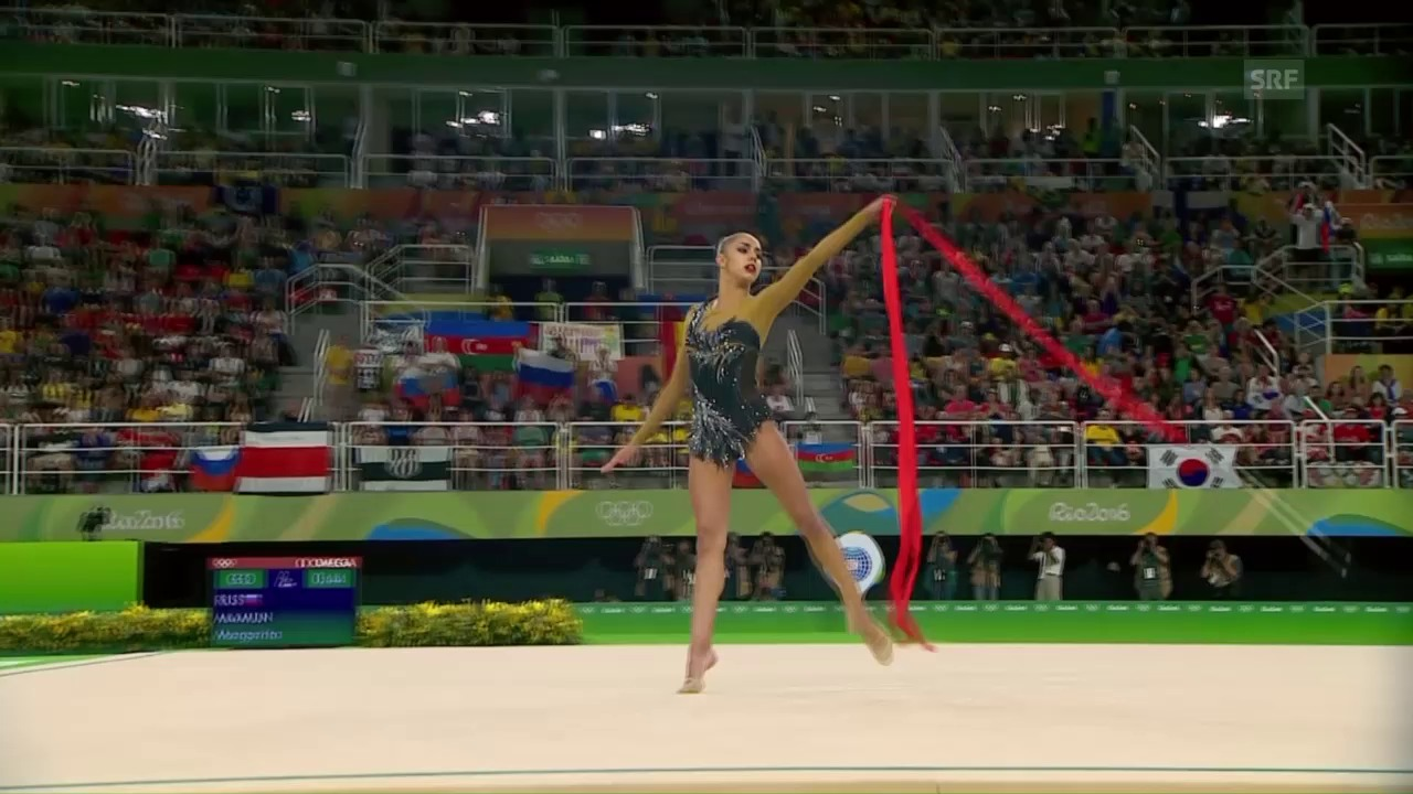 Bänderübung von Olympiasiegerin Mamun