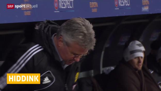 Video «Fussball: Hiddink neuer Oranje-Coach («sportaktuell»)» abspielen